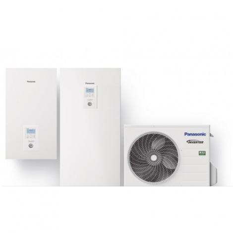 Panasonic Aquarea 5 kW 185l su 3 kW el. tenu WH-ADC0309J3E5/WH-UD05JE5, R32 freonas